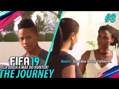 FIFA 19 THE JOURNEY #08 - Ela ODEIA a mãe do HUNTER!!! (Gameplay em Português PT-BR)