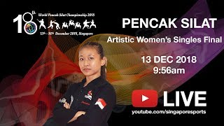 Pencak Silat Artistic Semi Womens Singles Finals (Day 1) | 18th World Pencak Silat Championship 2018