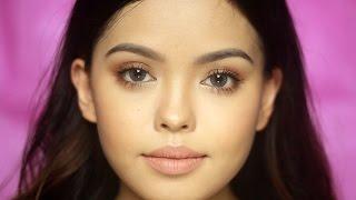 No Brushes Makeup Challenge! Everyday Warm | Ana Victorino