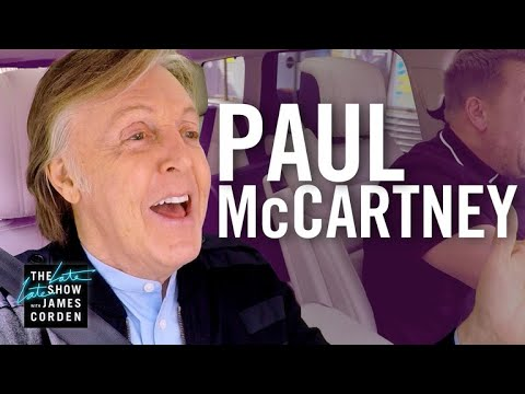 Paul McCartney rides with The Late Late Show's James Corden for Carpool Karaoke (Video)