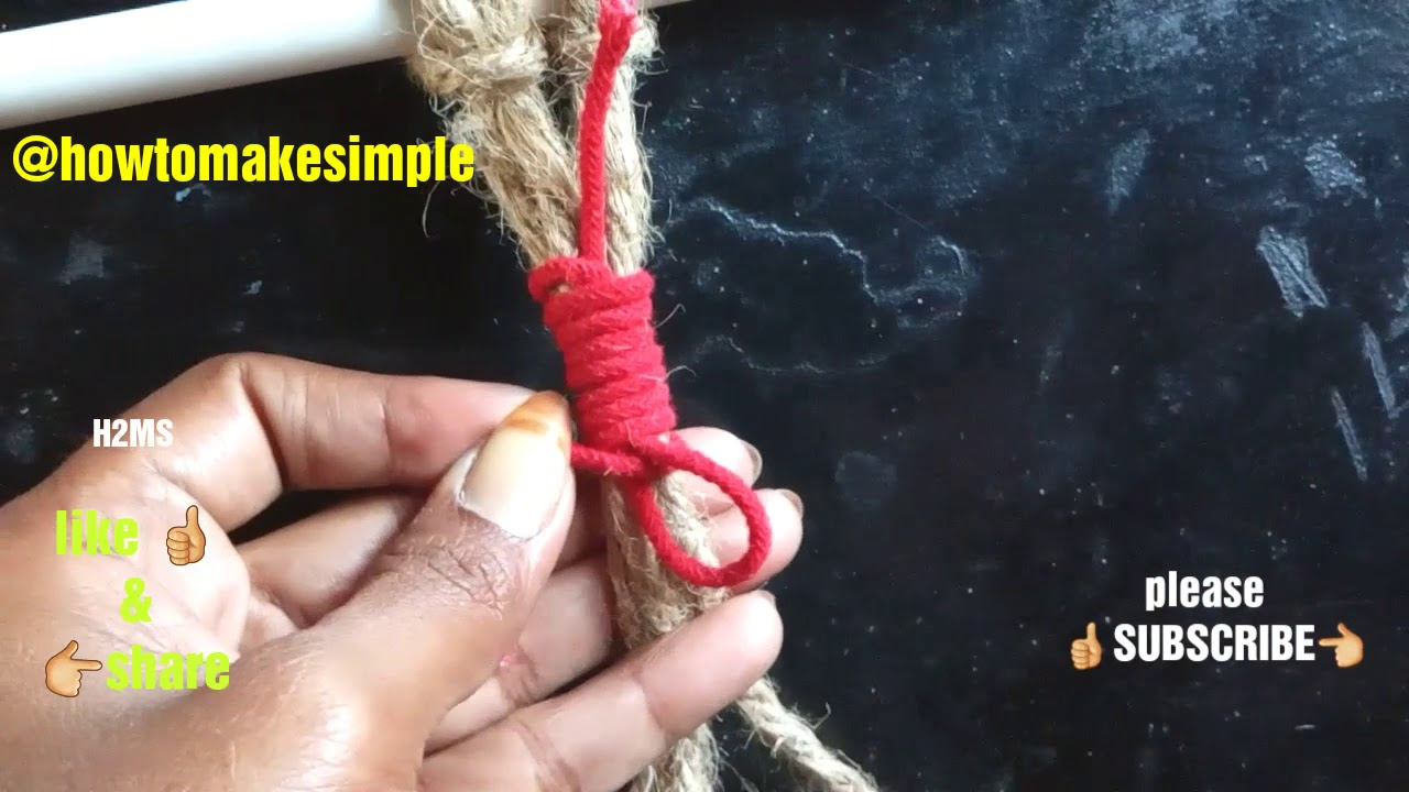how to make simple Macrame Gathering / Wrapping Knot   how to tie wrap knot ,Basic Macrame Knots #04