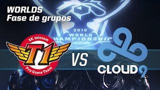 SK Telecom T1 vs Clound9 - #worldsLVP2 - World Championship 2016 - Fase de grupos 1