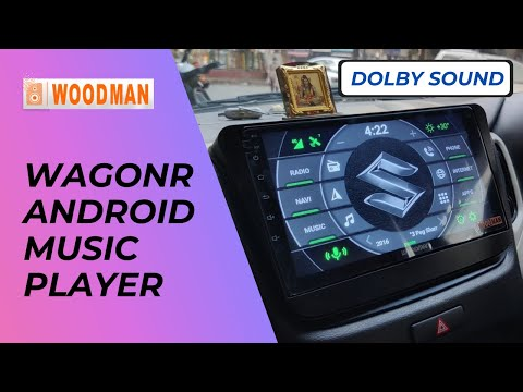 Woodman Gold Android Music Player for WagonR with Dolby Sound & 4G Sim Slot - Woodman