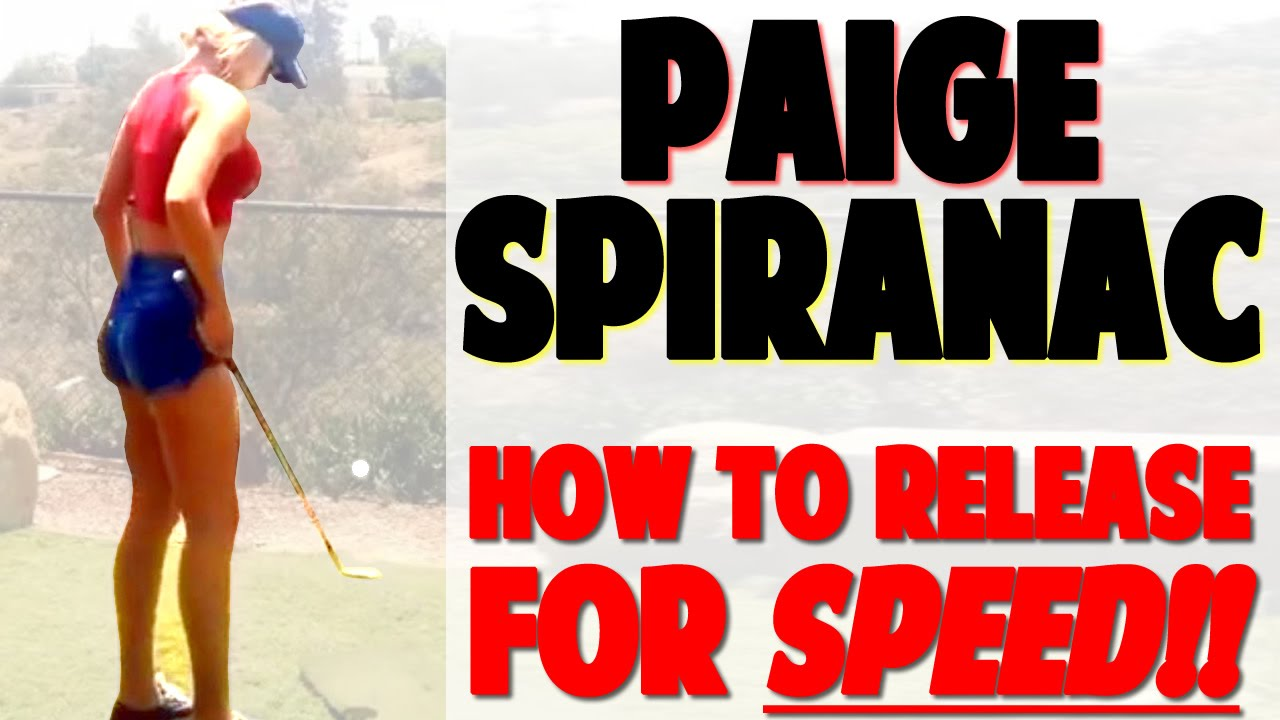 "paige spiranac swing review | use the lead leg for ""whip-like"" power"