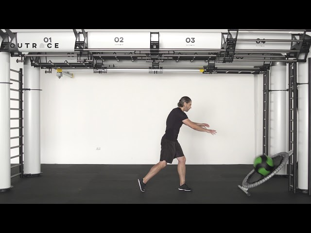 Ball Trampoline Cross Throw