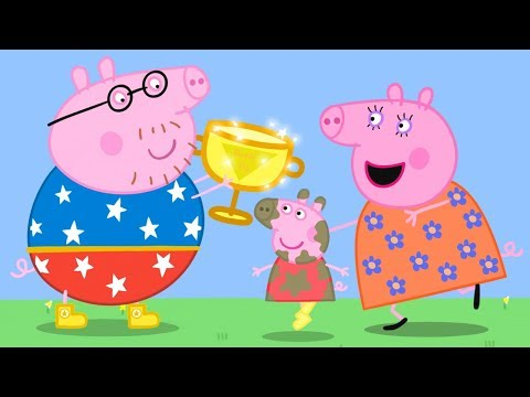 Peppa Pig Official Channel | Daddy Pig's MEGA Puddle Jump with Peppa Pig!