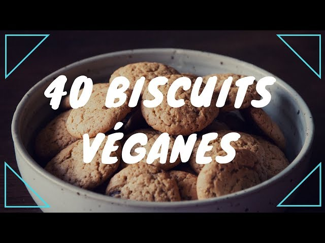 40 petits biscuits véganes