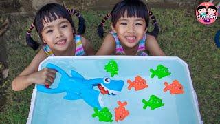 หนูยิ้มหนูแย้ม   เล่นฉลามงับปลา Kids Activities