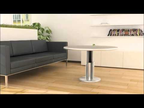 table basse hauteur r glable youtube. Black Bedroom Furniture Sets. Home Design Ideas