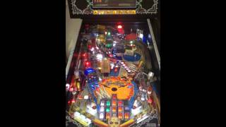 Addams family pinball machine with Pinball Heaven LED stand