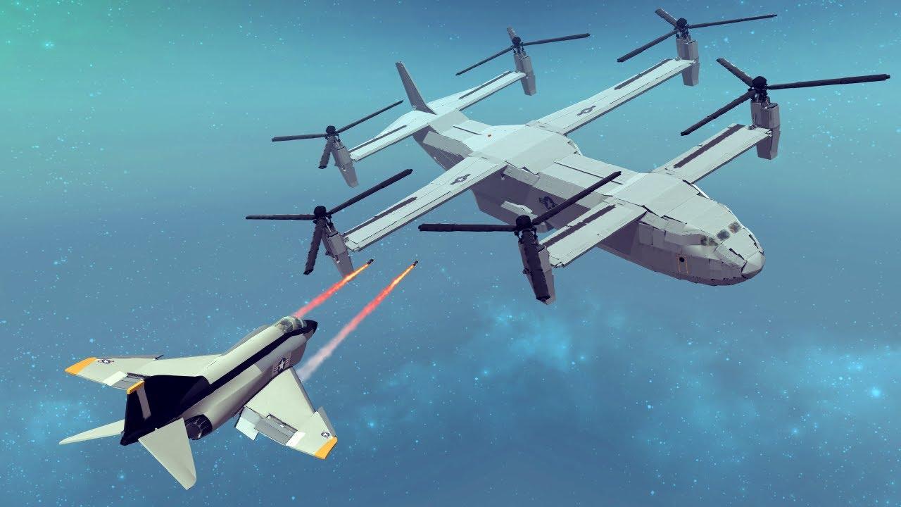 Air to Air Shootdowns #2 Feat. F/A-18 Super Hornet vs C-17 Globemaster | Besiege