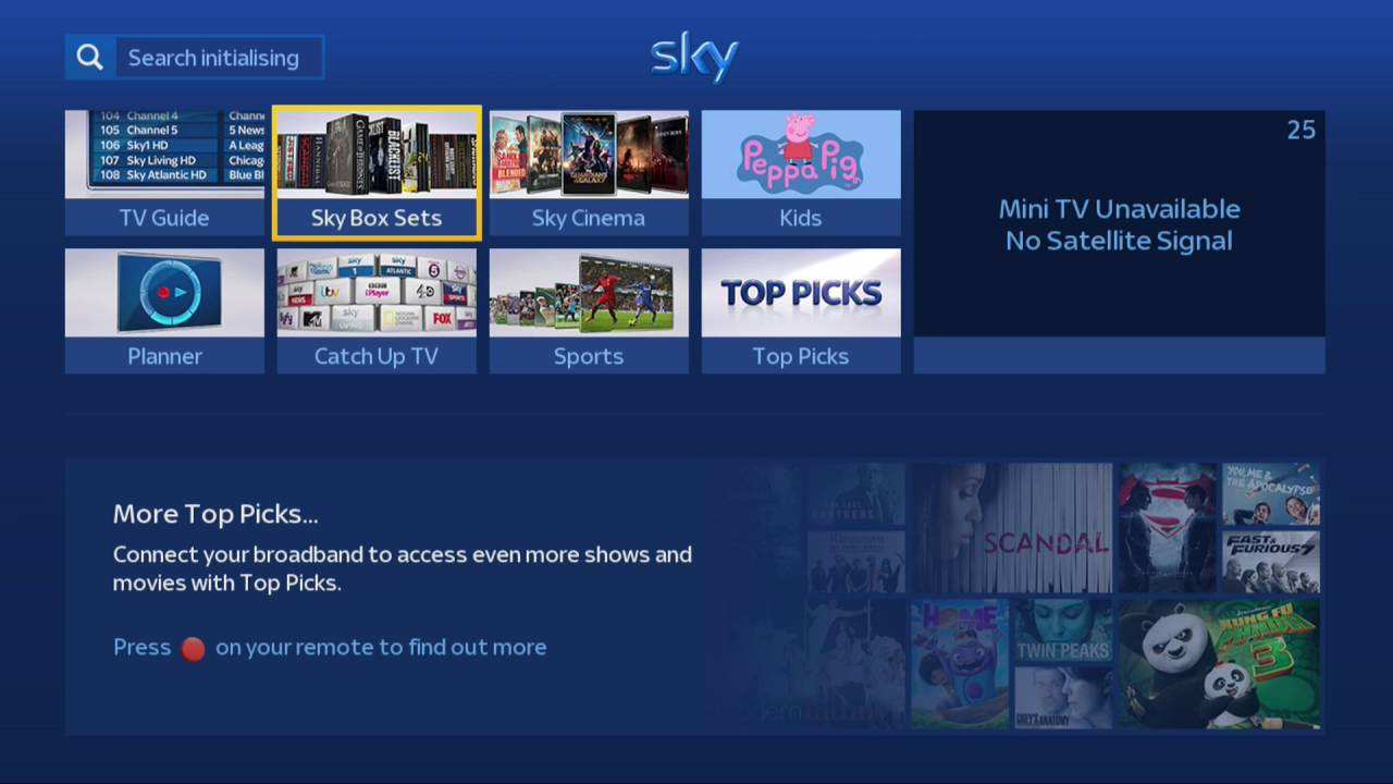 Sky Hd No Signal And Unable To View Previous Recordings