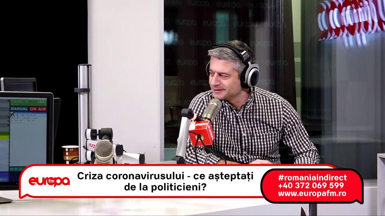 România în direct, cu Tudor Mușat: Criza coronavirusului – ce așteptați de la politicieni?