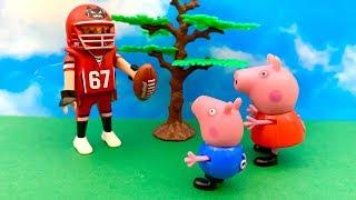 Świnka Peppa po Polsku  Gra w Football  Bajka dla dzieci