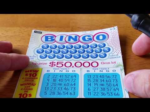 BINGO!!! CANADIAN SCRATCH OFF WINNER!! INSTANT GAME LOTTERY TICKET