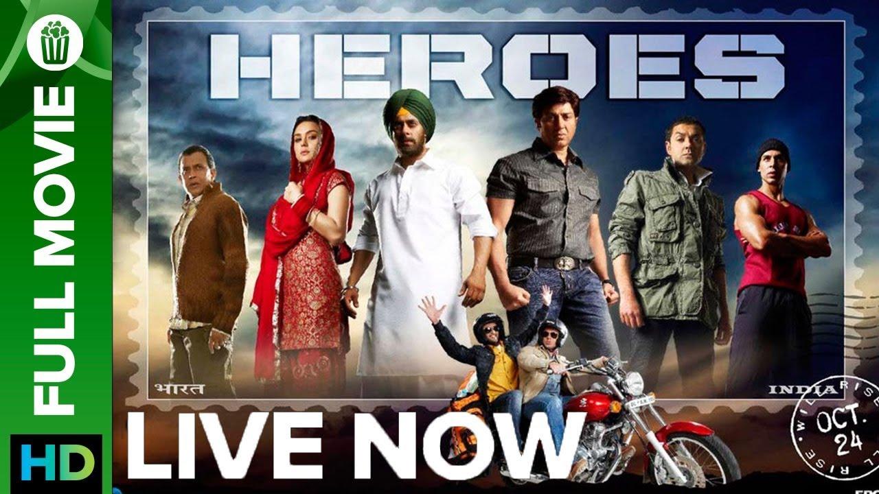 Heroes | Full Movie LIVE on Eros Now | Salman Khan, Sunny Deol, Preity Zinta, Sohail Khan & Vats