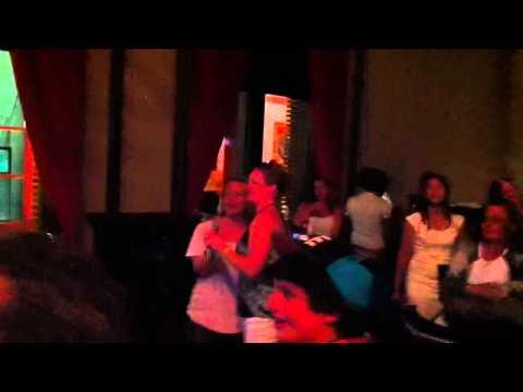 Wendy doing karaoke at Hard Rock Hotel in Punta Cana