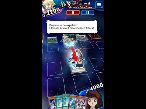 Yugioh Duel Links - PVP Today Replay : Against Ultimate Ancient Gear Golem