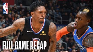 THUNDER vs CLIPPERS | Lou Williams Goes For 40 Points Off Bench | March 8, 2019