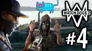 WATCH DOGS 2 - Parte 4: Google, Gatos e Fuga de Alcatraz!! [ Playstation 4 - Playthrough ]