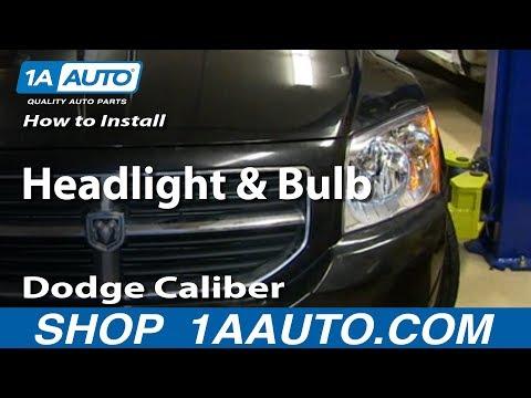 How To Replace Headlight 07-12 Dodge Caliber