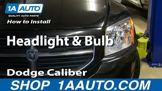 How To Install Change Headlight and Bulb 2007-12 Dodge Caliber
