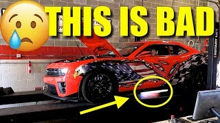 1000hp Nitrous Camaro ZL1 BLOWS UP ON THE DYNO!!!