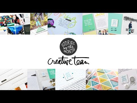 Ali Edwards' Creative Team | March 2018 Stories By The Month™ Overview