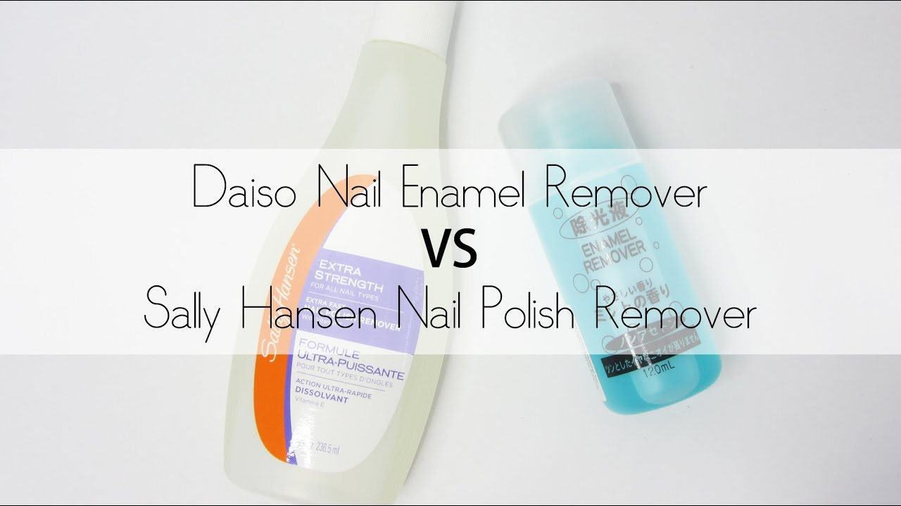 Daiso Nail Enamel Remover VS Sally Hansen Polish