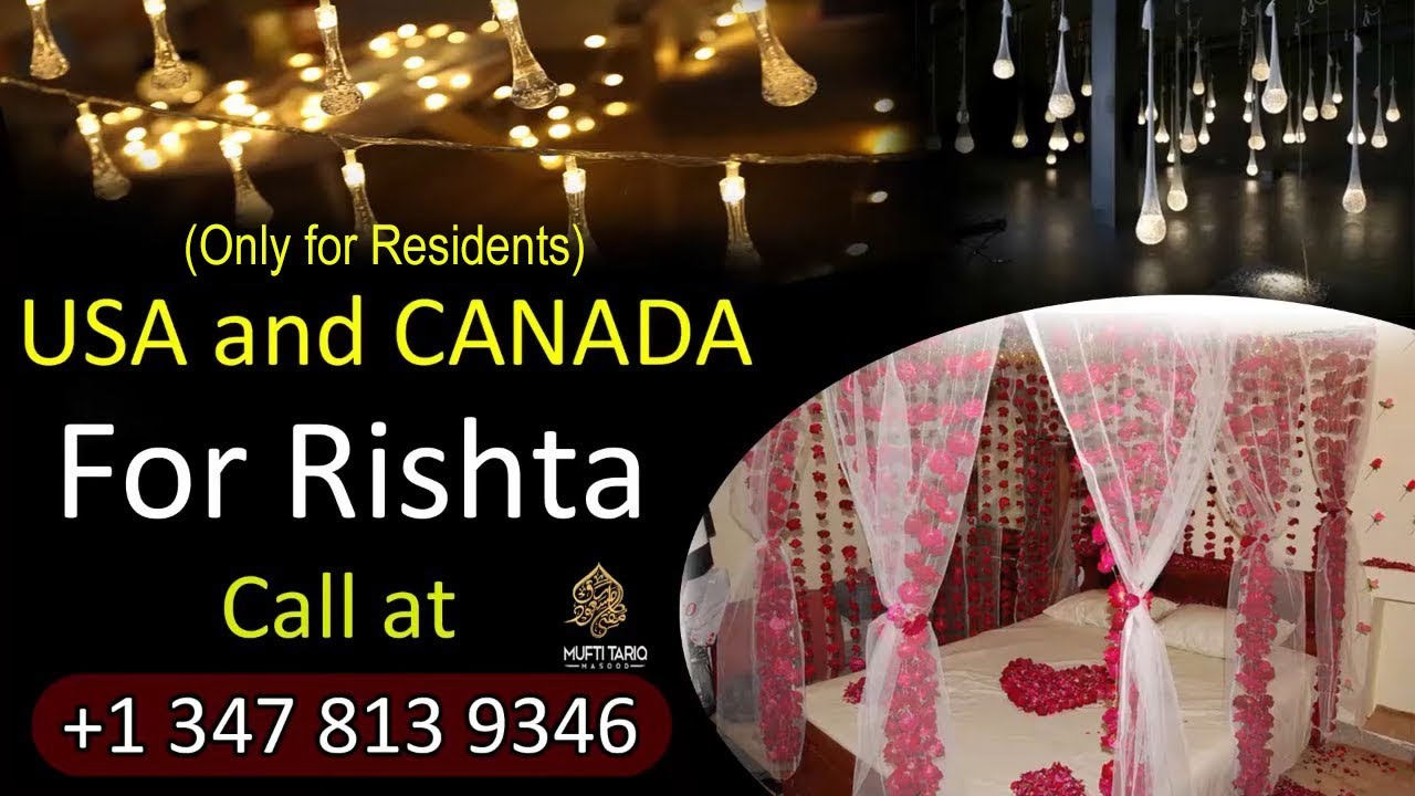 🍬 Please call For Rishtay (Matchmaking) In Usa And Canada |  Mufti Tariq Masood Speeches 🌹