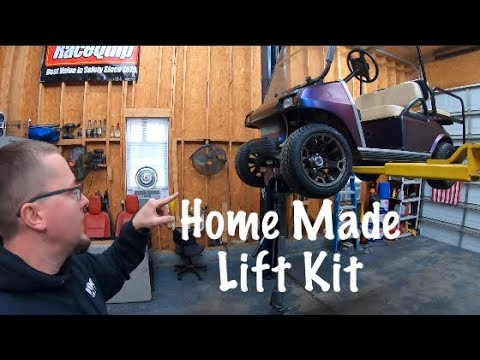 Easy Home Made Golf Cart Lift. Club Car DS
