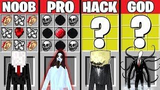 Minecraft Battle: SLENDERMAN HORROR CRAFTING CHALLENGE ~ NOOB vs PRO vs HACKER vs GOD – Animation