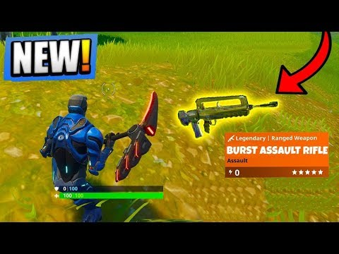 *NEW* LEGENDARY BURST ASSULT RIFLE!! (FORTNITE BATTLE ROYALE SEASON 4)
