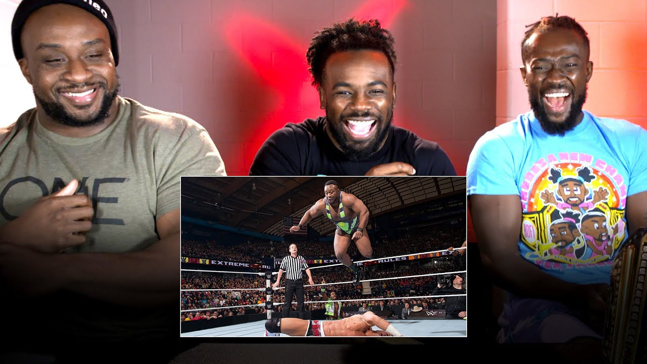 New Day rewatch Extreme Rules brawl with Kidd & Cesaro: WWE Playback
