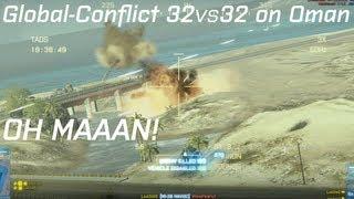 BF3: Competitive 32vs32 on Gulf of Oman (Chopper-Gunning)