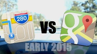 H2H: Apple Maps vs. Google Maps (Early 2015) Free HD Video