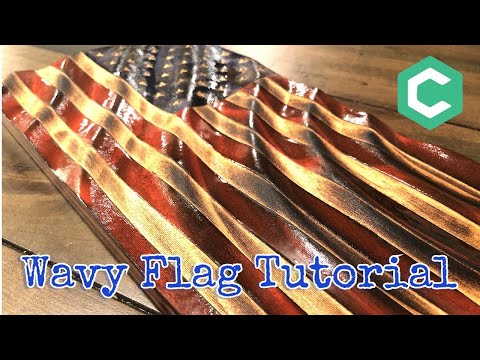 How To Make A Wavy Wooden Flag With Carbide Create Pro