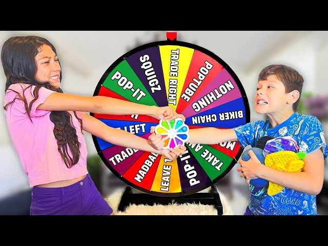 Letting Our SPINNING WHEEL Decide What We FIDGET TRADE (INTENSE) Pt 2 | Txunamy