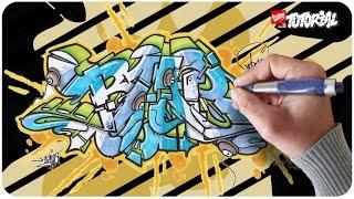 BLUE - Wildstyle Graffiti Tutorial Schritt für Schritt