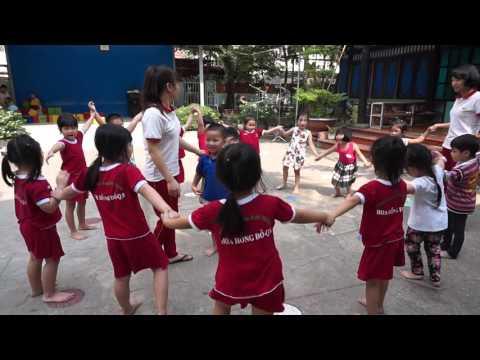 Trò chơi MÈO ĐUỔI CHUỘT lớp Chồi mầm non Hoa Hồng Đỏ