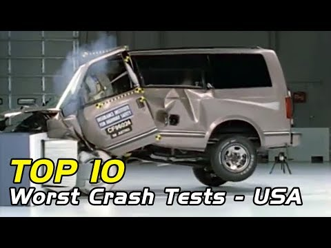 Top 10 Worst Vehicle Crash Tests! - USA Edition