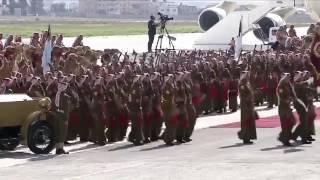 طائرات مقاتلة وسيارة كلاسيكية.. مراسم استقبال رسمية للملك سلمان في الأردن