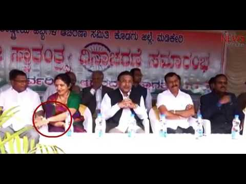 Caught on cam: Karnataka Cong leader holds woman MLC's hand as she squirms in discomfort