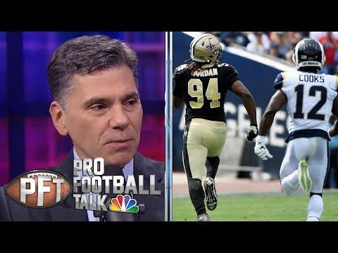 Questionable calls emerge again in Saints vs. Rams | Pro Football Talk | NBC Sports