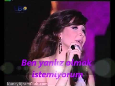 Nancy Ajram Lawn Oyounak Turkish Subtitle.avi