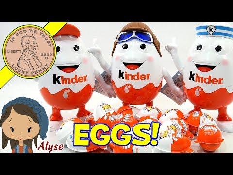 Kinder Joy Boy & Girl Surprise Egg Opening!