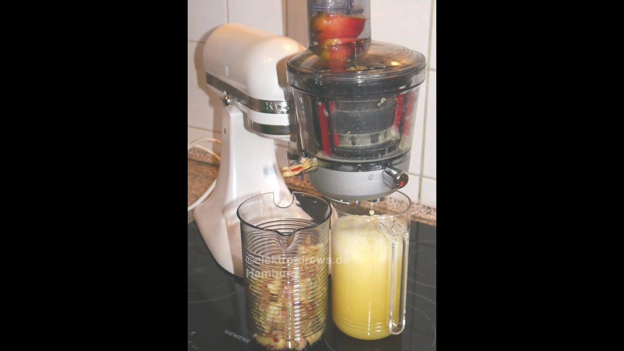 Kitchen Aid Artisan Cafe Themed Decor Kitchenaid Entsafter Für Die Küchenmaschine - Youtube