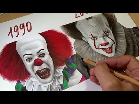 Drawing IT - Pennywise (1990 vs 2017)