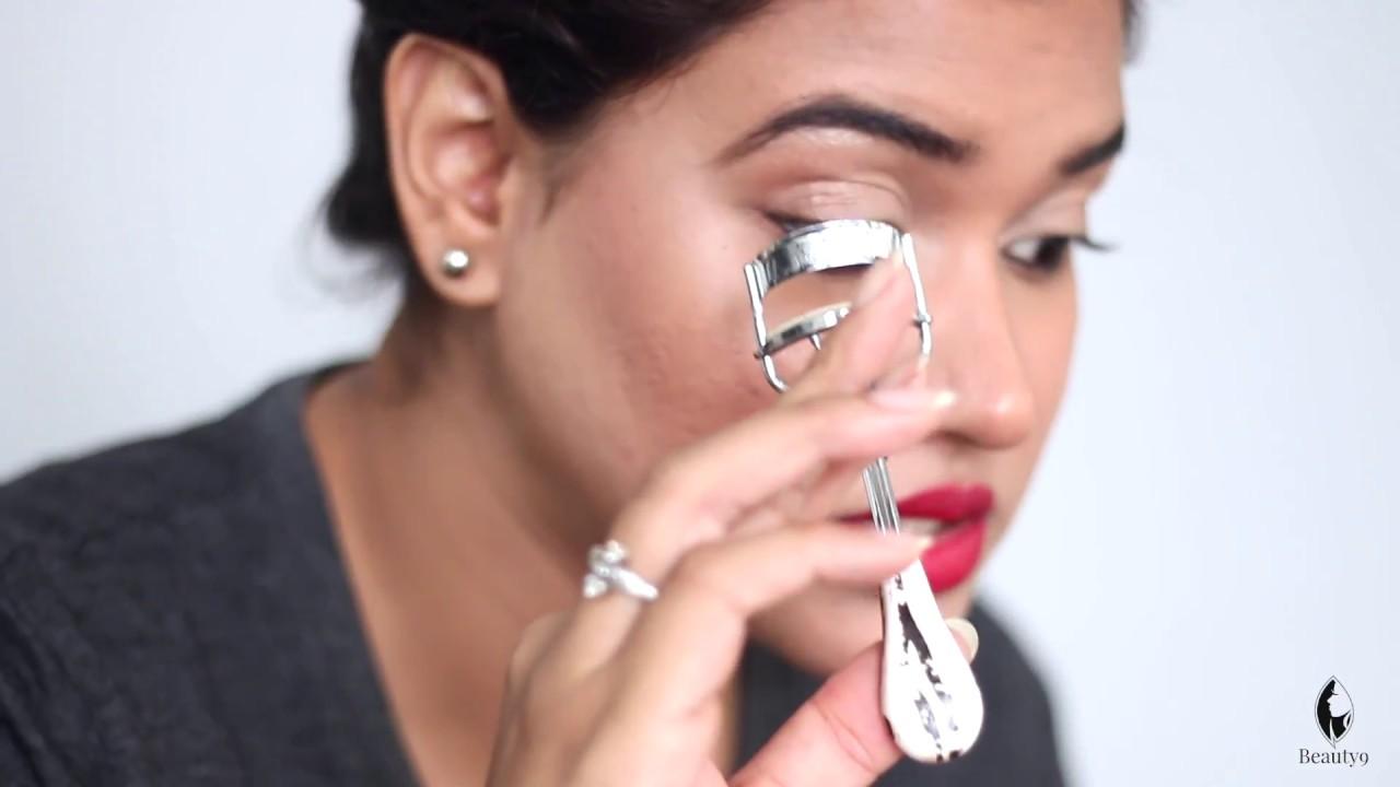 How To Use Eyelash Curler Hindi Eyelash Curler Tutorial Youtube
