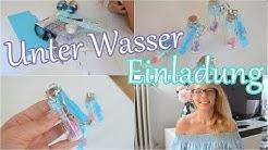 DIY Einladungskarten   Meerjungfrau   Unter Wasser   #milenawird5